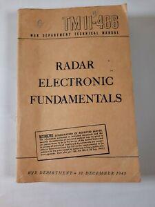 Radio Fundamentals TM 11-466 War Department Technical Manual December 1943 Book