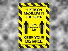 Social Distancing Warning Vinyl Sticker/Sign Keep Your Distance Window/Door/Wall