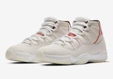 """AIR JORDAN 11 XI RETRO 378037-016 """"PLATINUM TINT"""" University Red Men's Sneakers"""