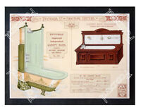 Historic Victorian Twyford's Bath and Shower Equipment Advertising Postcard