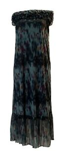 Dress-Eyelash Couture Off The Shoulder Green Multicolor Womens Dress Size M