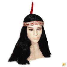 Perücke Indianer Häuptling schwarz Karneval Fasching