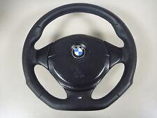 2) aplanada volante de cuero bmw e34 e36 e39 con airbag nuevo lederrbezug 3-375-e36-1