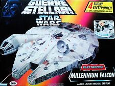 Star Wars POTF2 ANH Electronic Millenium Falcon Foreign Box Art Vehicle MISB