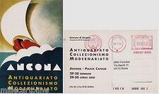 # ANCONA: CART.CON TIMBRO ROSSO RIPROD. MANIFESTO D'EPOCA ANTIQUARIATO(CONVEGNO)