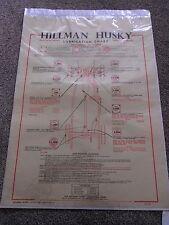 Hillman Husky LATO VALVOLA Lubrificazione modello grafico c.c. Wakefield & Co Ltd