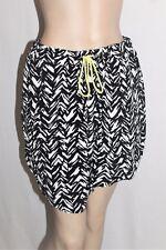 COTTON ON Brand Black White Demi Draw String Skirt Size M BNWT #TG77