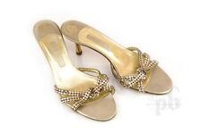 Gina Gold Swarovski Studded Heels Size 6 UK / 8 US