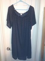 H&M Black Patterned Free Size Large Dress off shoulder