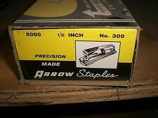"Arrow No. 300 Staples Box of 5,000 1/2"" NEW! NEVER USED!"