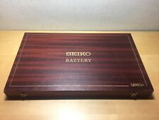Vintage - SEIKO Battery - Case Estuche Box - Madera Wood - 40,3 x 24,2 x 3,6 cm