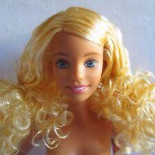 NEW 2015 Barbie Evolution Fashionista Doll ~ Tan Skin Curly Blonde Hair ~ Nude