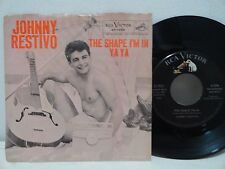 Rockabilly Johnny Restivo 45rpm PS The Shape I'm In Ya Ya Picture Sleeve 1959