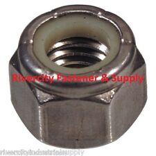 (25) 1/4-20 Coarse Thread 18-8 Stainless Steel Nylon Insert Lock / Stop Nut