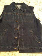 NWT $49 JONES NEW YORK  JEANS Dark Denim Jeans Vest  10