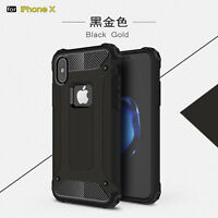 For iPhone X 8 7 Plus Heavy Duty Shockproof Rugged Rubber Armor Case Hard Cover