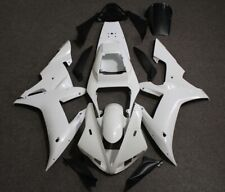 Injection Unpainted White Fairing Kit for Yamaha YZF-R1 YZF R1 2002 2003 02 03