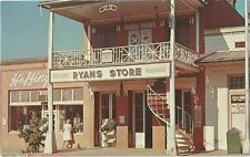 Weaverville CA Ryan's Store-Odd Fellows Hall Postcard 1960s