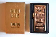 BANK OF WORLD GOLD 1kg BAR 9999 VINTAGE BUTANE CIGARETTE TABLE GAS LIGHTER