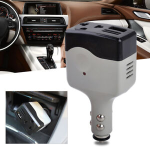 12V DC to AC 220V Car Auto Power Inverter Converter Adapter USB Plug Charger New