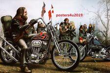 David Mann Art Motorcycle Poster Canadian Brothers Biker Print