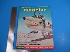 Vintage American Modeler Magazine February 1957 R/C Boat by Plecan M3257