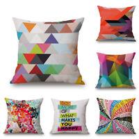 Comfortable 45*45 Cotton Linen Pillow Case Throw Cushion Cover Home Sofa Decor