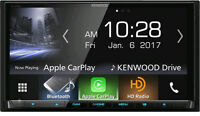 "Kenwood DDX9904S In Dash 6.95"" DVD Receiver Apple CarPlay HD Radio & Bluetooth"