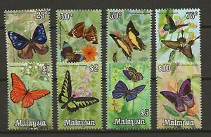 Malaysia 1970 Insects Butterfly Schmetterlinge Papillons compl set to $10 MNH