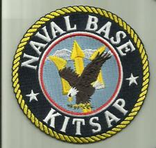 """NAVAL BASE KITSAP US.NAVY PATCH 4""""  AIRCRAFTCARRIER WARSHIPS FIGHTERJET HELO FLY"""