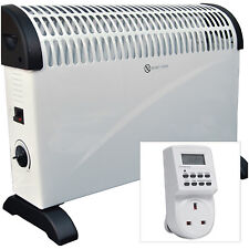 2kW Floor & Wall Mounted Home & Office Convector Radiator Heater + Digital Timer
