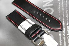 ALFA EURO SPORTS PERFORATED QUALITY GENUINE LEATHER WATCH BAND FITS sWISS 24MM