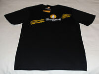 Bundaberg Rum Logo Mens Black Yellow Printed Short Sleeve T Shirt Size L New