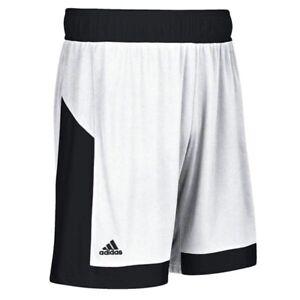NEW Large Youth Adidas team shorts 15 white Black commander basketball shorts