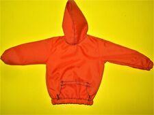Vtg Barbie Ken 90s Doll Clothes Orange Hoodie No Label