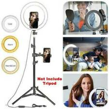 LED Ring Light Lamp Selfie Camera Phone Studio Tripod Stand Video Dimmable Set