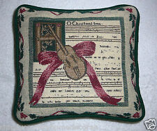 "Pillow~Christmas~""O Christmas Tree""~Tapestry Like Front~Music Theme~Free Ship"