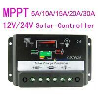 10/15/20/30A MPPT Solar Panel Regulator Charge Controller 12V/24V Auto Switch GA