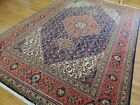 7x10  8x10 Tabrize Oriental Area Rug wool hand-knotted Orange Blue Yellow Green