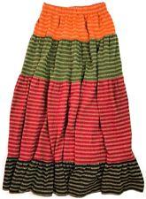 Horchow Vintage 1960'S Metallic Tiered Maxi Skirt Size Medium