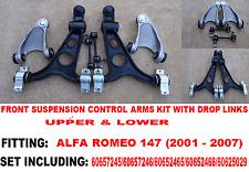 ALFA ROMEO 147 156 TS GT ANTERIORE SUPERIORE BRACCI DI SOSPENSIONE BRACCIO OSCILLANTE INFERIORE KIT HD Arms