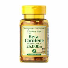 "Beta-carotene 25000IU ""strong""  (100 caps) PROVITAMIN A Puritan's Pride POLAND"