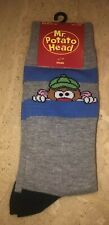 Mens Mr. Potato Head Pair Of Novelty Crew Socks Size 6-12 Peak A Boo Striped