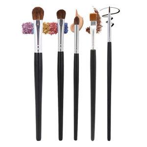 Nature Hair Eyes Makeup Brushes Set Eyeshadow Liner Brow Smudge Blending Contour