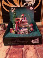 Disney Nightmare Before Christmas Snowmotion Musical Snowglobe Santa Jack Sally