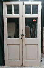 More details for a pair of reclaimed painted pine double glazed external doors in frame dp0340