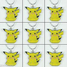 Lots Wholesale 9pcs Pokemon Pikachu Pendants Necklaces Birthday Favor Gifts BIN