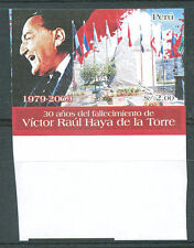 PERU 2009 HAYA DE LA TORRE Imperforate Mint NH VF
