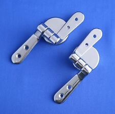 Toilet Seat Hinges Replacement Pair for Mdf or Wood inc Nuts and Bolts