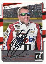 AUTOGRAPHED Tony Stewart 2017 Panini Donruss #14 Mobil 1 Signed NASCAR Card COA